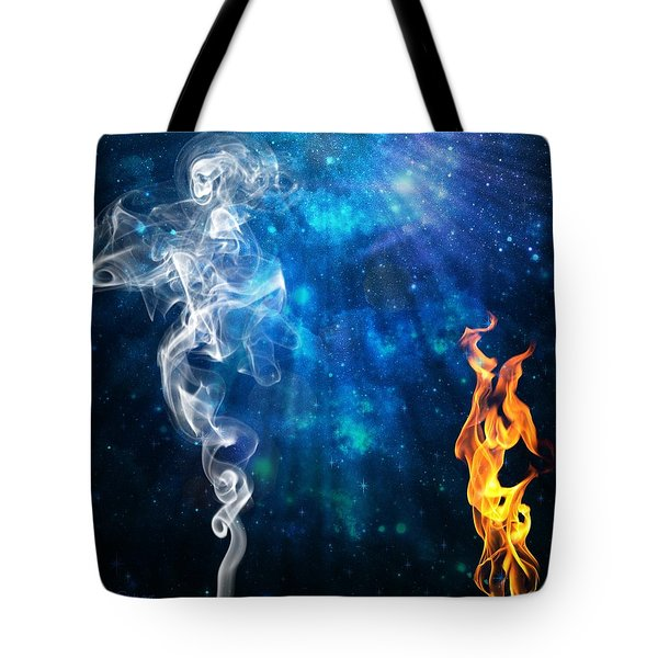 Universal Energies At War Tote Bag