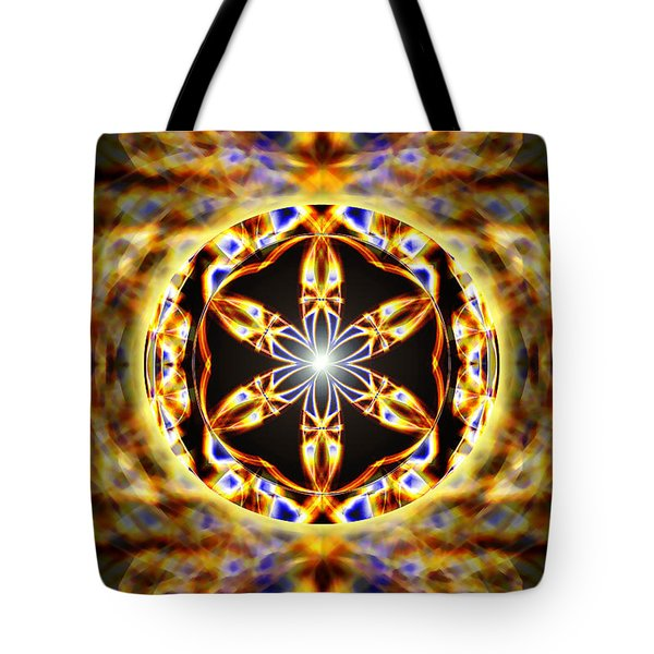 Tote Bag featuring the drawing Universal Heart Fire by Derek Gedney