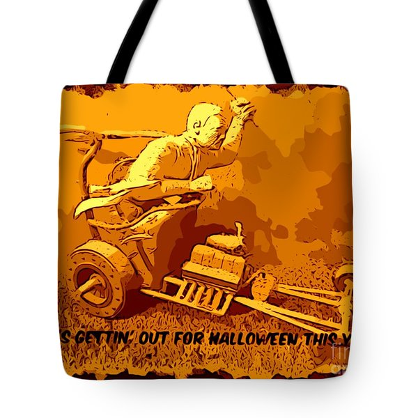 Universal Mosters Mummys Chariot Card Tote Bag by John Malone