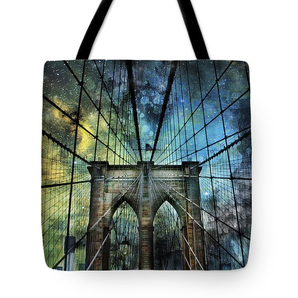 Universe And The Brooklyn Bridge Tote Bag