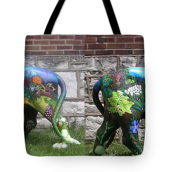University City In Bloom Lion Tote Bag by Genevieve Esson