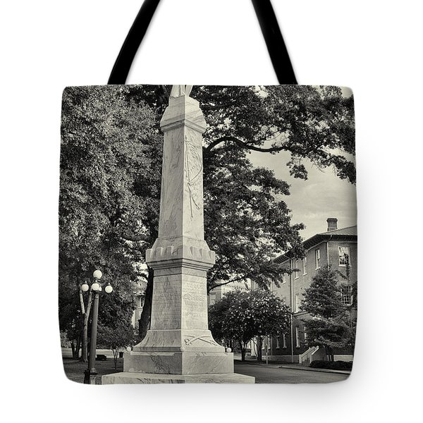 University Greys Black And White Tote Bag