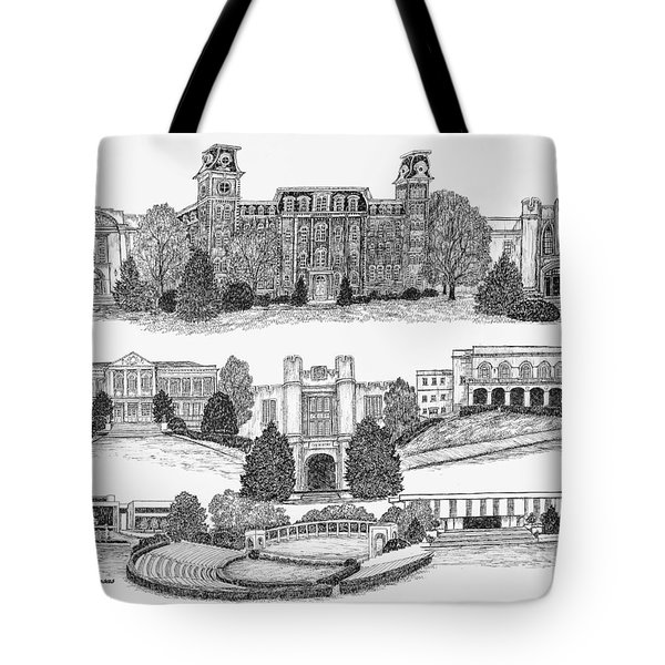 University Of Arkansas Fayetteville Tote Bag by Jessica Bryant