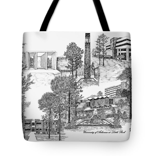 University Of Arkansas Tote Bag by Jessica Bryant