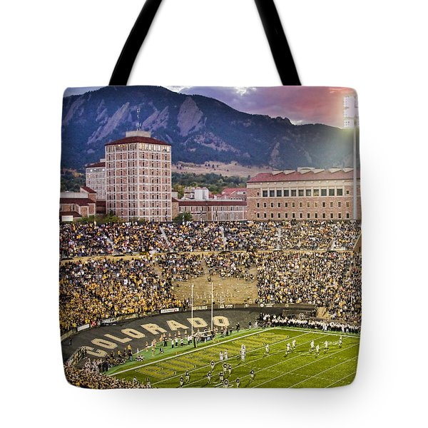 University Of Colorado Boulder Go Buffs Tote Bag