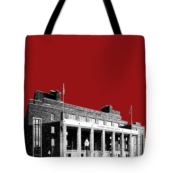 University Of Minnesota - Coffman Union - Dark Red Tote Bag