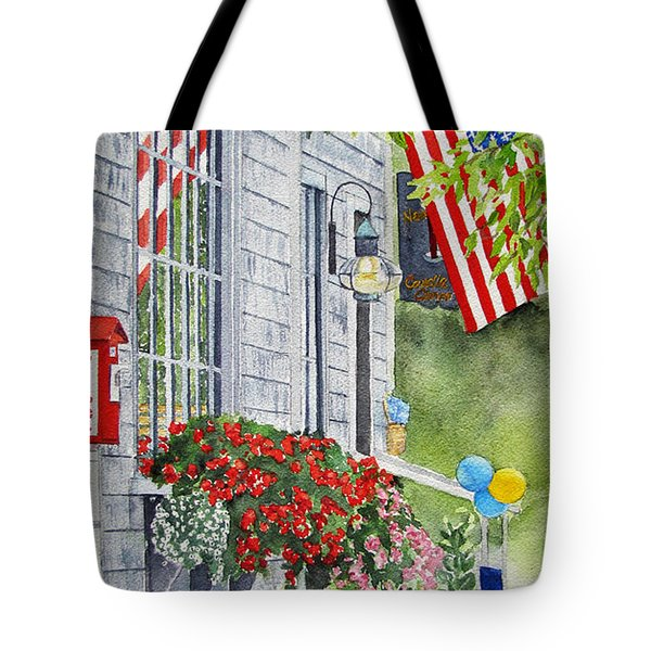 University Of Nantucket Shop Tote Bag by Carol Flagg