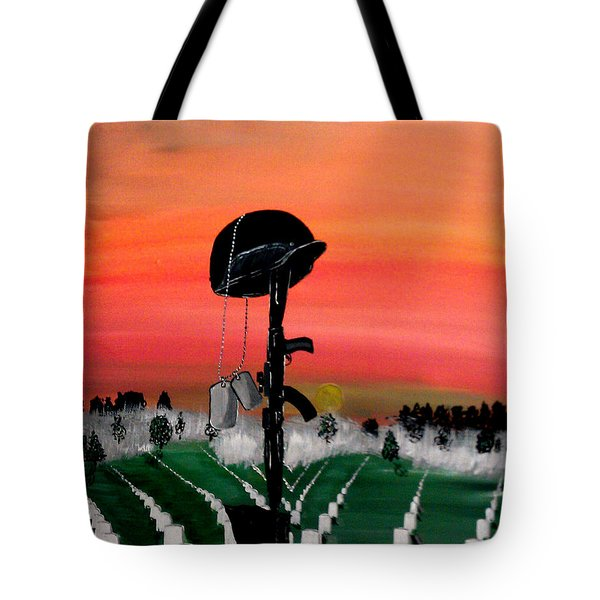 Unknown Hero Tote Bag by Mark Moore
