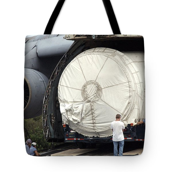 Tote Bag featuring the photograph Unloading A Titan Ivb Rocket by Science Source
