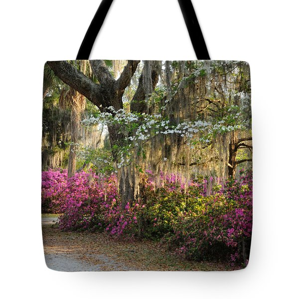 Tote Bag featuring the photograph Unpaved Road In Spring by Bradford Martin