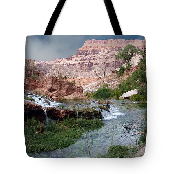 Unspoiled Waterfall Tote Bag