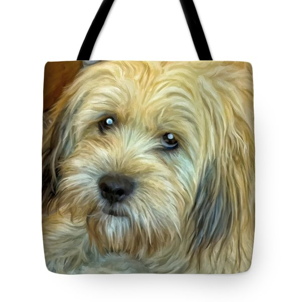 Tote Bag featuring the painting Chewy by Michael Pickett