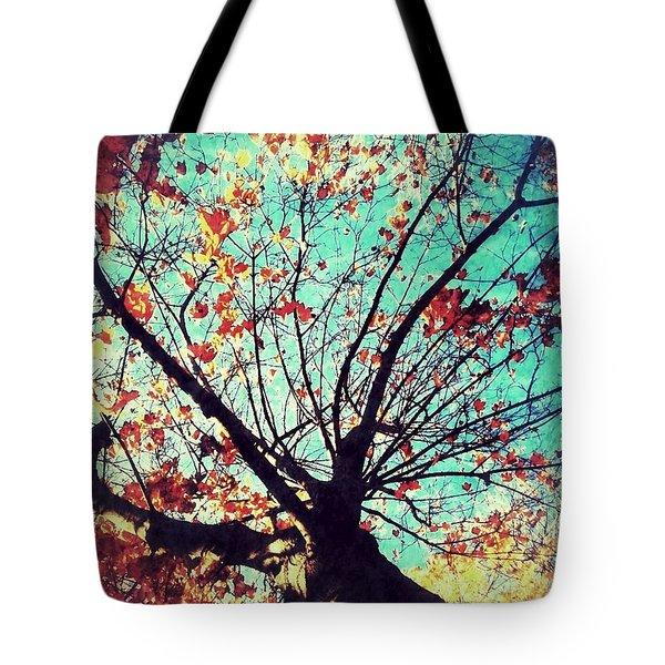 Untitled Tree Web Tote Bag by Juliann Sweet