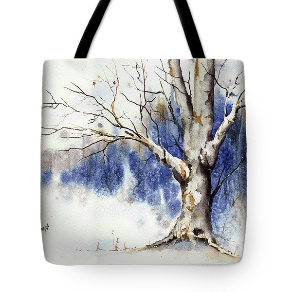 Untitled Winter Tree Tote Bag