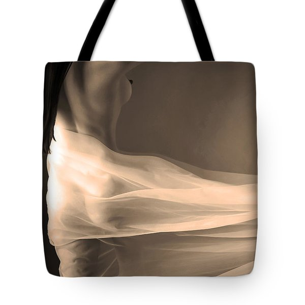 Tote Bag featuring the photograph Unveiled by Jennifer Wright
