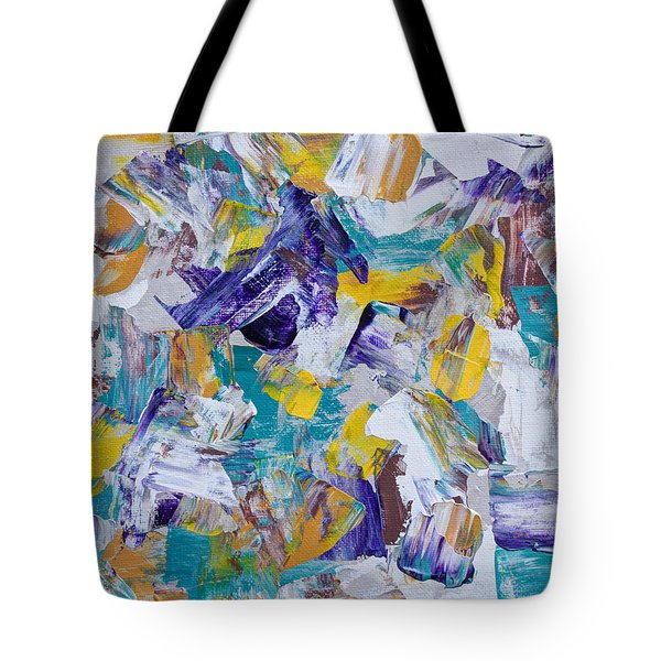 Tote Bag featuring the painting Unwinding by Heidi Smith