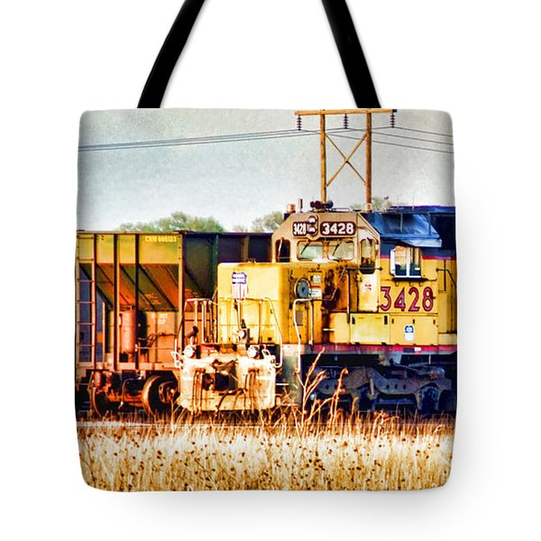 Up 3428 Rcl Locomotive In Color Tote Bag by Bill Kesler