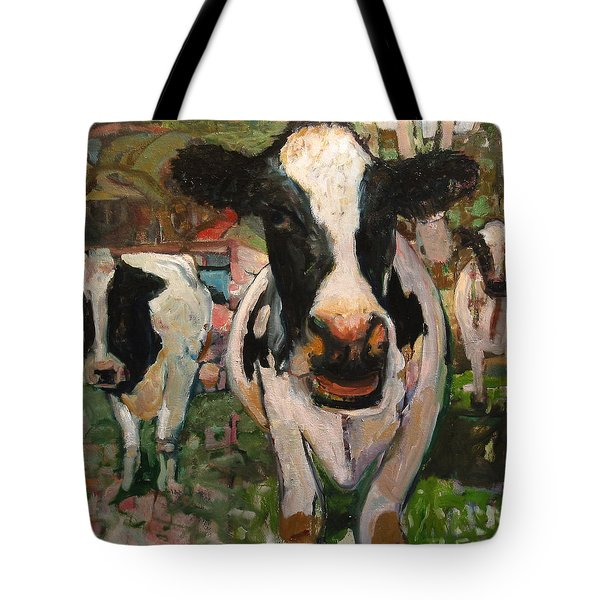Up Front Cows Tote Bag