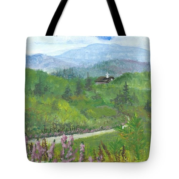 Up In The Mountains Tote Bag