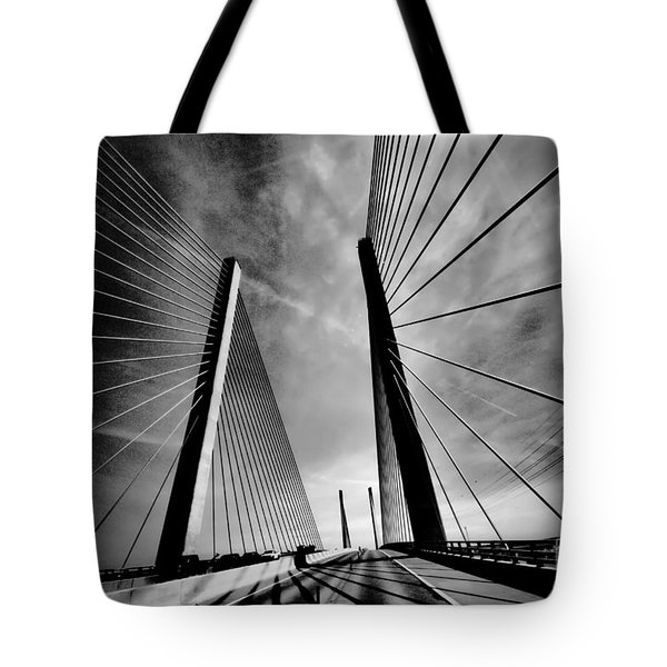Tote Bag featuring the photograph Up N Over by Robert McCubbin