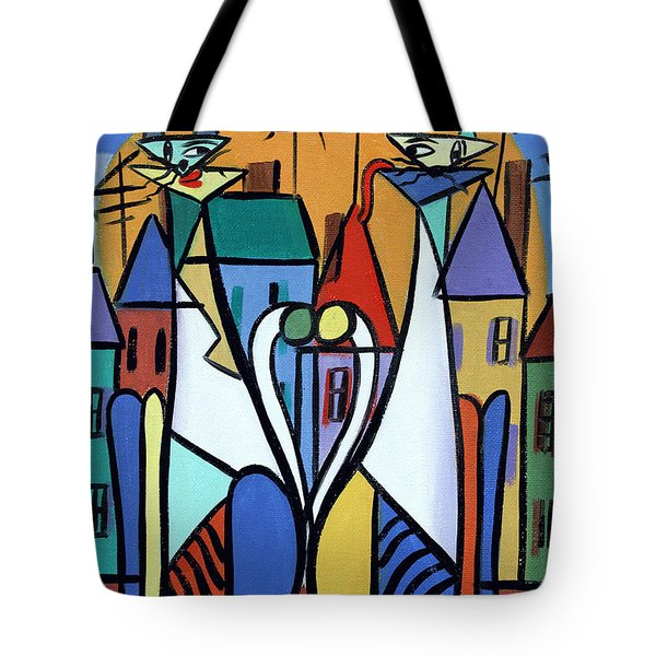 Up On The Roof Tote Bag by Anthony Falbo