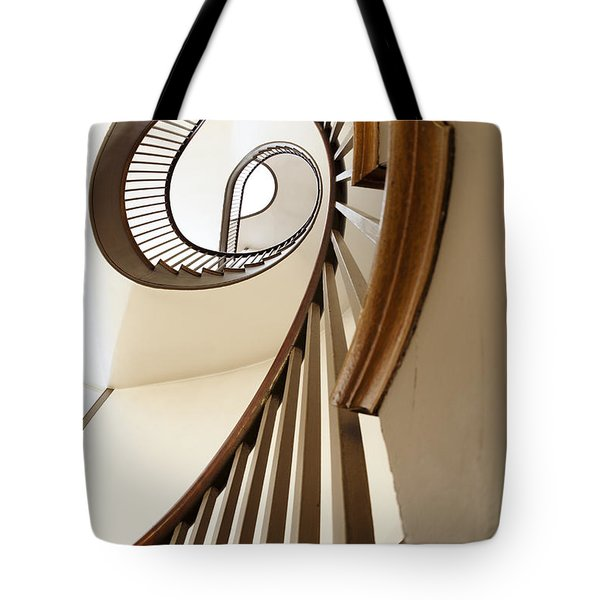 Up Stairs Tote Bag by Alexey Stiop