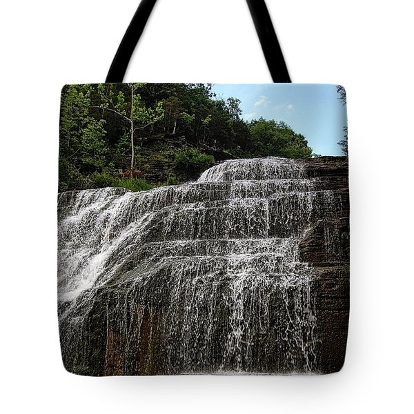 Up The Falls Tote Bag