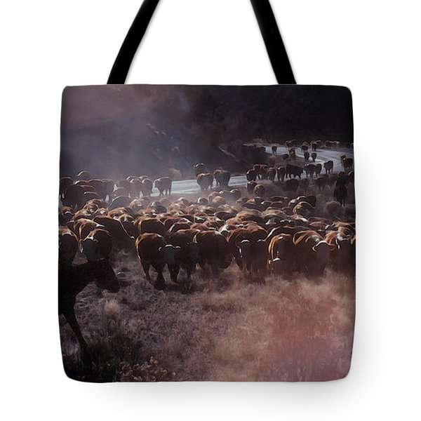 Up The Road Tote Bag by Jerry McElroy