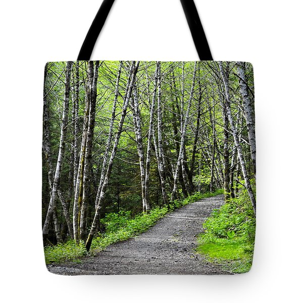 Tote Bag featuring the photograph Up The Trail by Cathy Mahnke