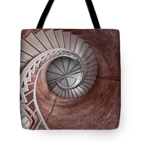 Up Through The Spiral Staircase Tote Bag by K Hines