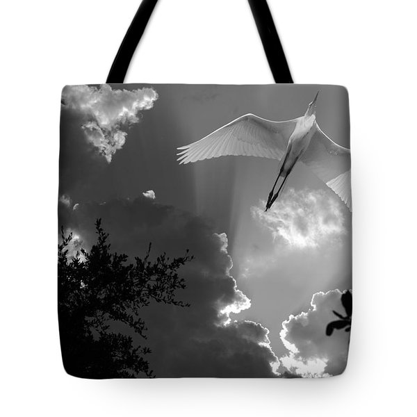 Up Up And Away Bw Tote Bag