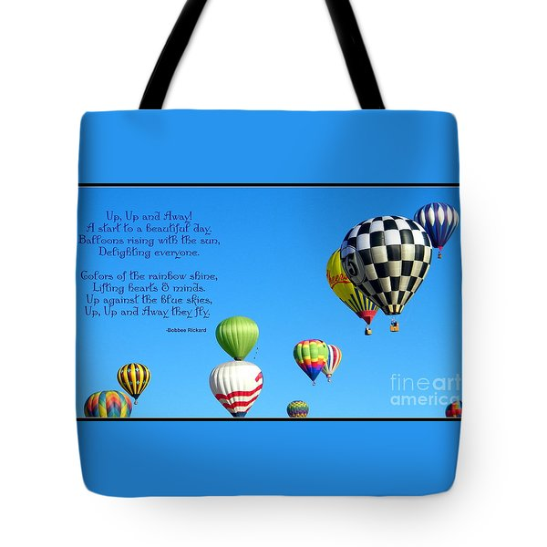 Up Up And Away Poetry Photography Tote Bag