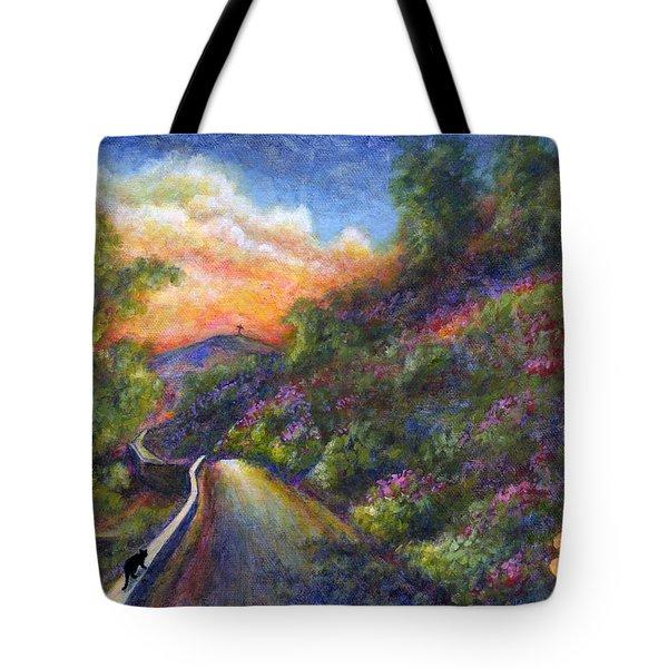 Uphill Tote Bag by Retta Stephenson