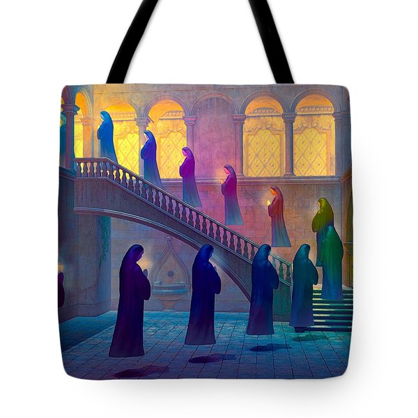 Tote Bag featuring the painting Uplifting Prayer by Dave Luebbert