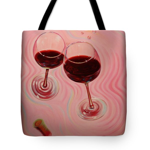 Tote Bag featuring the painting Uplifting Spirits II by Sandi Whetzel