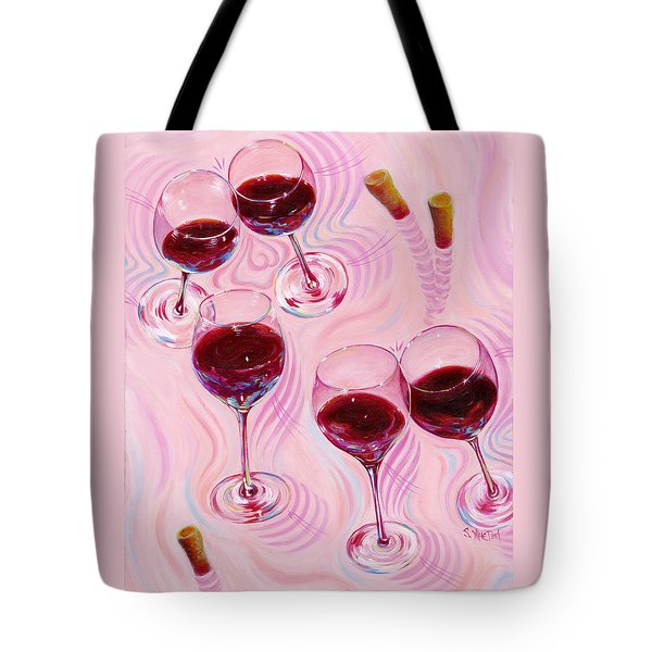 Tote Bag featuring the painting Uplifting Spirits  by Sandi Whetzel