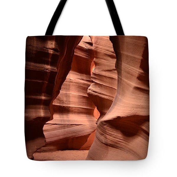 Upper Antelope Canyon In Arizona Tote Bag by DejaVu Designs