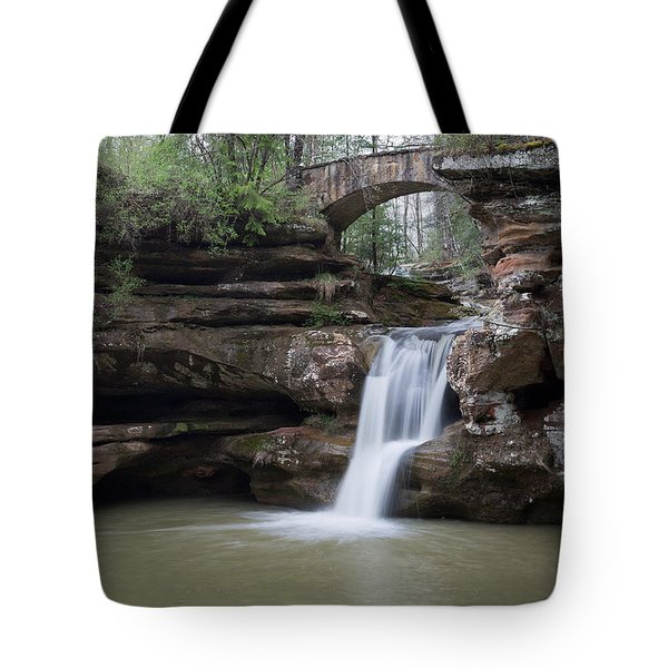 Upper Falls At Old Mans Cave II Tote Bag