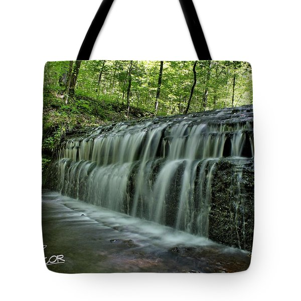 Upper Falls At Stillhouse Hollow Tote Bag