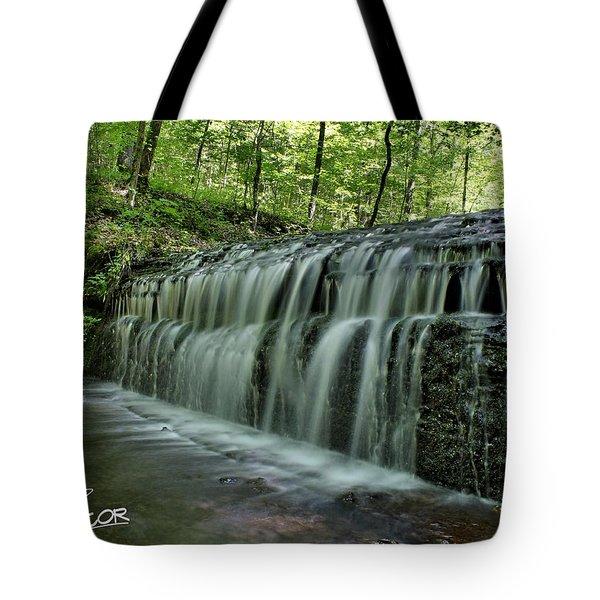 Upper Falls At Stillhouse Hollow Tote Bag