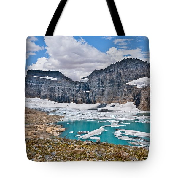 Upper Grinnell Lake And Glacier Tote Bag