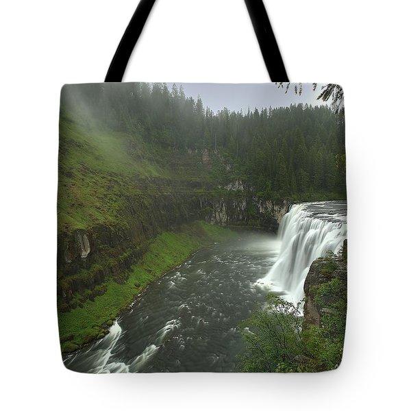 Upper Messa Falls Tote Bag