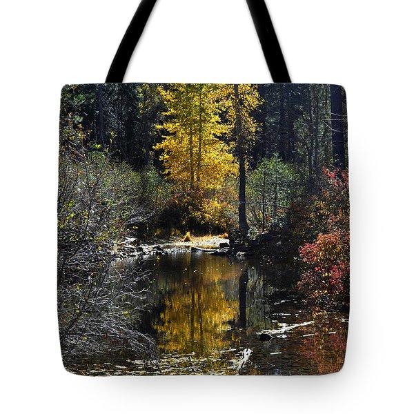 Upper Truckee River Autumn Tote Bag