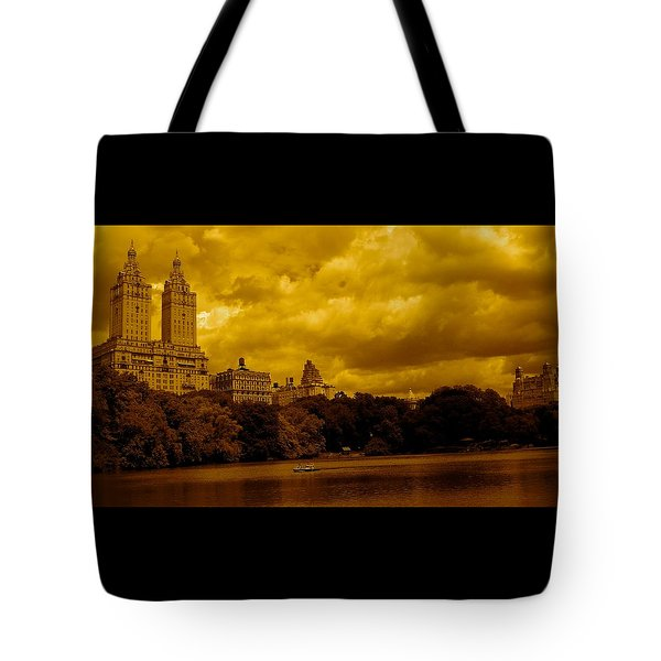 Upper West Side And Central Park Tote Bag by Monique Wegmueller