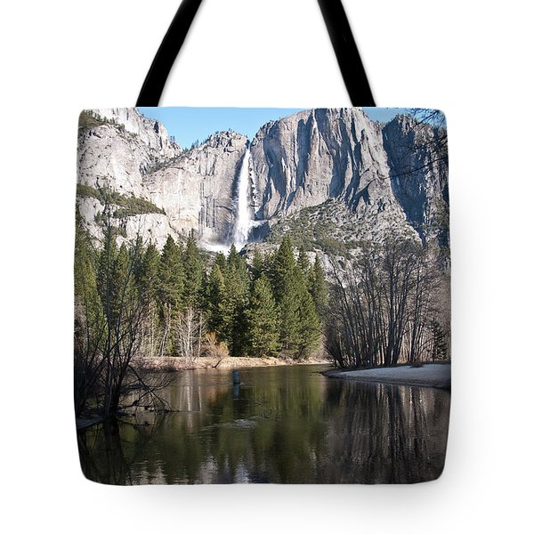 Upper Yosemite Fall Tote Bag