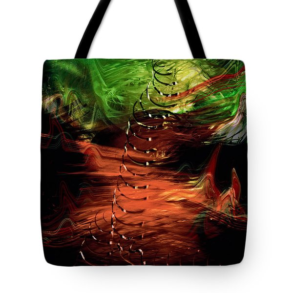 Tote Bag featuring the painting Uprising by Gerlinde Keating - Galleria GK Keating Associates Inc