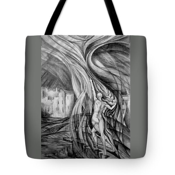 Tote Bag featuring the drawing Uprising To Heaven  by Mikhail Savchenko