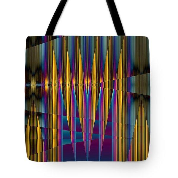 Ups And Downs Abstract Tote Bag