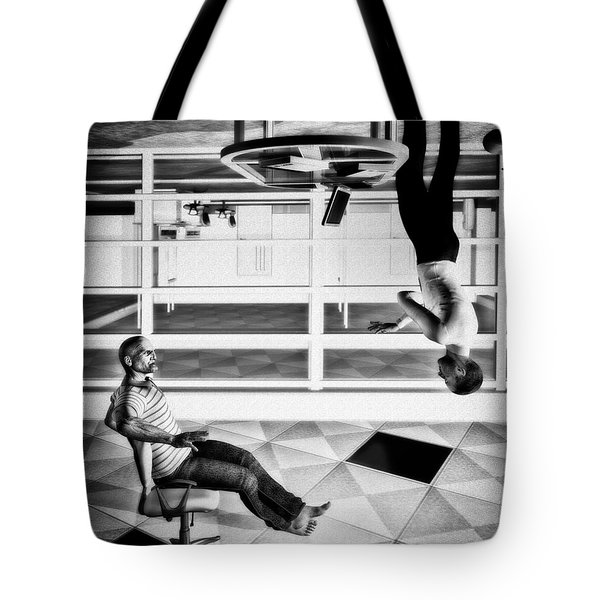 Upside Down Conversation Tote Bag