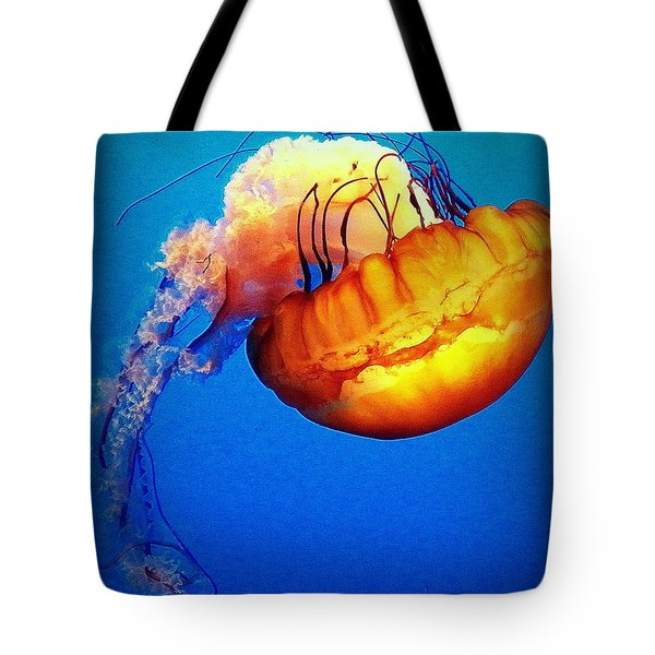 Upside Down Jelly Tote Bag by Faith Williams